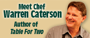 Chef Warren Caterson Author of Table of Two